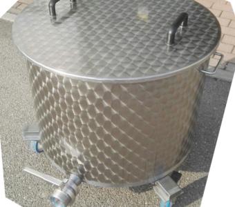 TI-200.5 - Tino inox 200 litri - 200 Liters S.S. Vat